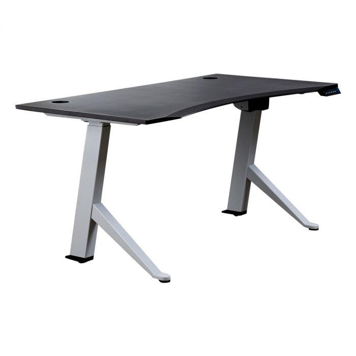 Peachy Black Sit Stand Desk E21Es Slope With Ergo Rectangular Download Free Architecture Designs Sospemadebymaigaardcom