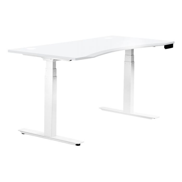 Remarkable White 2 Motor Sit Stand Desk G22E With Ergo Rectangular Download Free Architecture Designs Sospemadebymaigaardcom