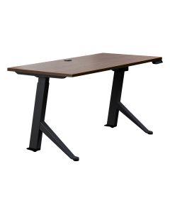 Walnut Sit Stand Desk E21es with Rectangular HPL Top